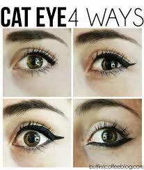 winged cat eye 4 diffe ways