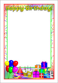 Small Picture Happy Birthday page border All borders are free and printable