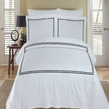 maya white black embroidered king california king duvet cover set 100 egyptian cotton 300 thread count by royal hotel bedding