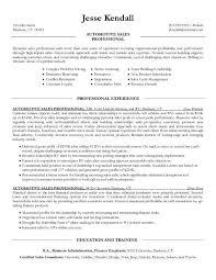 car sales executive cv