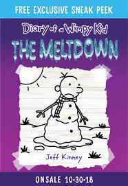 Light Blue Diary Of A Wimpy Kid Book Diary Of A Wimpy Kid The Meltdown Book 13 By Jeff Kenney