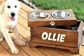 wooden dog bowl stand wood elevated dog bowls elevated dog feeder and storage box dog bowl