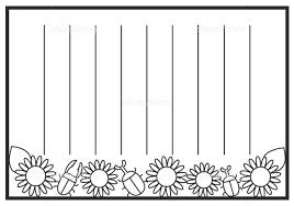 便箋 ヒマワリ 縦書き イラスト素材 5861579 フォトライブラリー