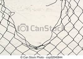 chain link fence background.  Fence Broken Chain Link Fencing  Csp32040844 In Fence Background