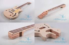 albatross les paul semi hollow guitar kit