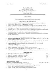 It System Administrator Resume Sample System Administrator Resume