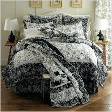 toile comforter sets black set queen regarding plans 11