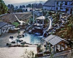 inground pools with waterfalls and slides. Kids Swimming Pool Inground Pools With Waterfalls And Slides H