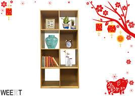 weext 4 tier puzzle 8 cube box organizer shelf