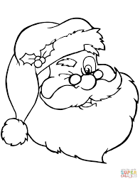Small Picture Santa Claus Winking coloring page Free Printable Coloring Pages