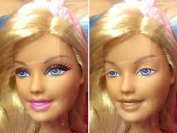 one artist digitally removed dolls makeup today