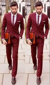 Coat Pant Design For Marriage 2015 Us 99 99 Wine Red Wedding Suits For Men Latest Coat Pant Design Formal Groom Best Man Suit 2 Piece Prom Street Suit Smart Business Blazer In Suits