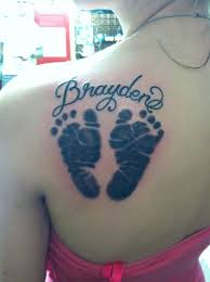 Baby Footprint Tattoos Designs Tattoo Of My Sons Baby Footprints Baby Tattoos Small