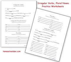 Irregular Verb Practice and Plural Nouns (Free Grammar Worksheets ...