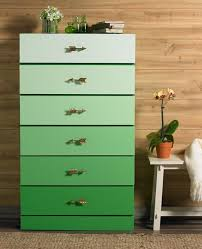 tropical painted furniture. diy gradient chest of drawers furniture redopainted tropical painted a