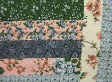 King Size Cheater Quilt Top Log Cabin Rose 90 X 108 3 Yards | eBay & King Size Log Cabin Rose/Black Cheater Quilt Top 90 x 108 (3 Yards Adamdwight.com
