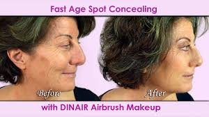 airbrush makeup for skin and age spots video tutorial dinair colair review