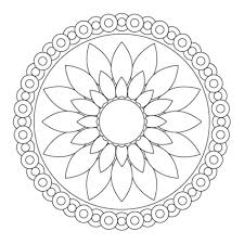 Small Picture Simple Mandala Coloring Pages Simple Colorings