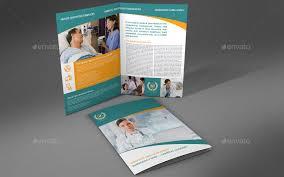 2 Folded Brochure Template Hospital Bi Fold Brochure Template Vol 2