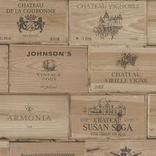 wine crates wallpaper natural wooden boxes french stamp print 30477 1