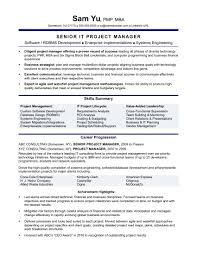 Manager Resume Examples Project Manager Resume Templates Resume Template 20