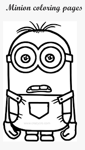 This fun illustration of the minions gives you a clear idea about how the characters are with each other. Minion Color Pages Coloring Minion Hd Png Download Transparent Png Image Pngitem