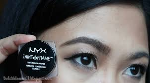 review nyx tame frame tinted brow pomade chocolate vs bys brow gel bold brunette