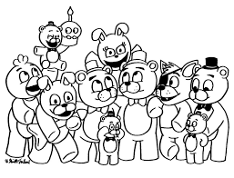 Fnaf For Kids Coloring Pages With Cartoons Bonnie Five Nights At
