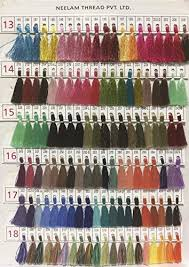 Yd Designs Neelam Shade Card Telephone Embroidery Yarns Rayon 2 X 22 X 31 Cms Pack Of 480