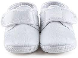<b>DELEBAO</b> Baby Infant Lace Up Satin Christening Baptism Shoes ...