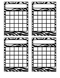 Zebra Incentive Charts By Crockers Creations Teachers Pay