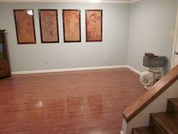 ... Charming Basement Interior With Various Basement Wall Color : Comely  Small Basement Interior Decoration Using Light ...