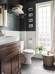 chair rail bathroom. Light And Dark Chair Rail Bathroom O