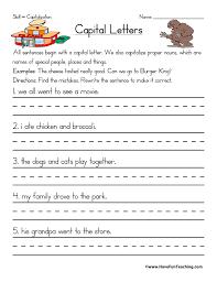 Capitalization Worksheets | Have Fun Teaching