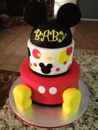 BABY SHOWER MICKEY AND MINNIE MOUSE CAKE TOPPER CENTERPIECE Baby Mickey Baby Shower Cakes