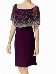 Msk Dresses Size Chart Msk Womens Blue Size 3x Embellished Shoulder Overlay Plus
