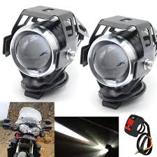 1 pair 125 W motorcycle rcycle auxiliary light <b>bulb Super bright U5</b> ...