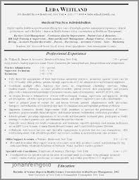 Medical Practice Administrator Sample Resume Cool Resume Examples For Hospital Manager Inspirational Practice
