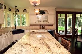 Granite Kitchens Great Close Up Of The Sienna Brulee Granite On The Kitchen Island
