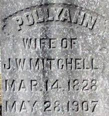 "Mary Ann ""Polly"" Mills Mitchell (1828-1907) - Find A Grave Memorial"