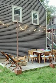 diy outdoor bistro light stands for
