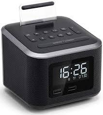 Beautiful Alarm Clock Radio,Wireless Bluetooth Speaker,Digital Alarm Clock USB  Charger For Bedroom With