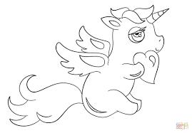 Disegno Di Unicorno Chibi Con Cuore Da Colorare Disegni Da Con