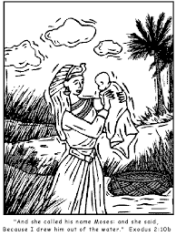 Small Picture Finds Baby Moses Coloring Page