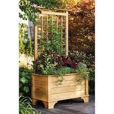 garden planter box and trellis pallet