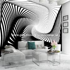 china custom background 3d wallpaper black white stripe art wall poster bedroom murals modern home decor