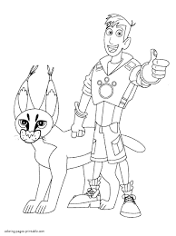 Capricious Wild Kratts Coloring Pages Free Printable For Coloring