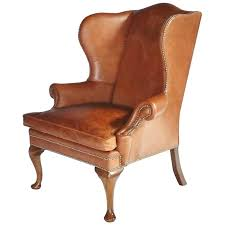 tufted leather wingback chair leather chair for at with leather wing chair decorating brown leather