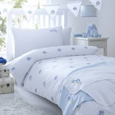 owls blue cot bed duvet cover