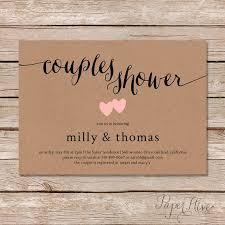 Couple Wedding Shower Invitations Rustic Couples Shower Invitation Kraft Couples Wedding